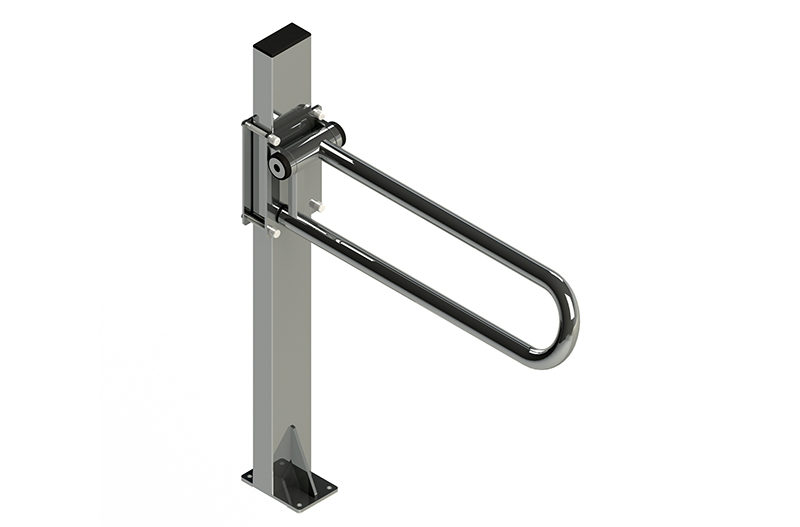 P.T. FLOOR MAST, CHROME