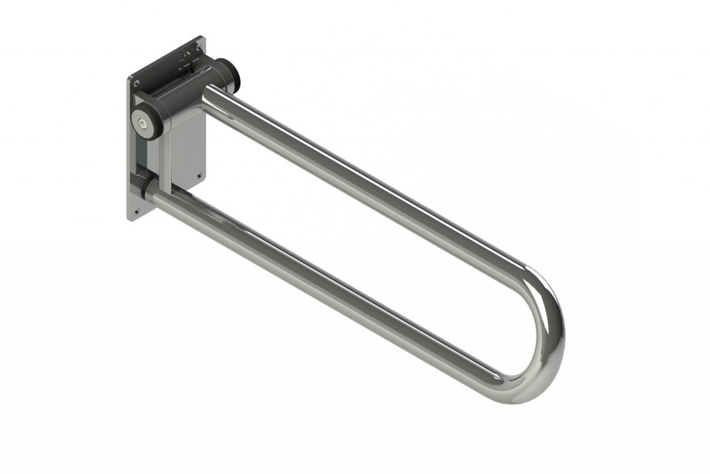 "P.T. RAIL, HINGED 28"" LENGTH, LEFT SIDE, CHROME"